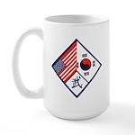 Dual Flag & Moo Large Mug