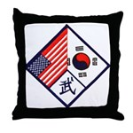 Dual Flag & Moo Throw Pillow