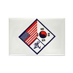 Dual Flag & Moo Rectangle Magnet (100 pack)