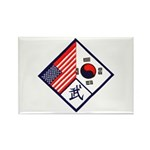 Dual Flag & Moo Rectangle Magnet (10 pack)