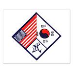 Dual Flag & Moo Small Poster
