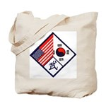 Dual Flag & Moo Tote Bag