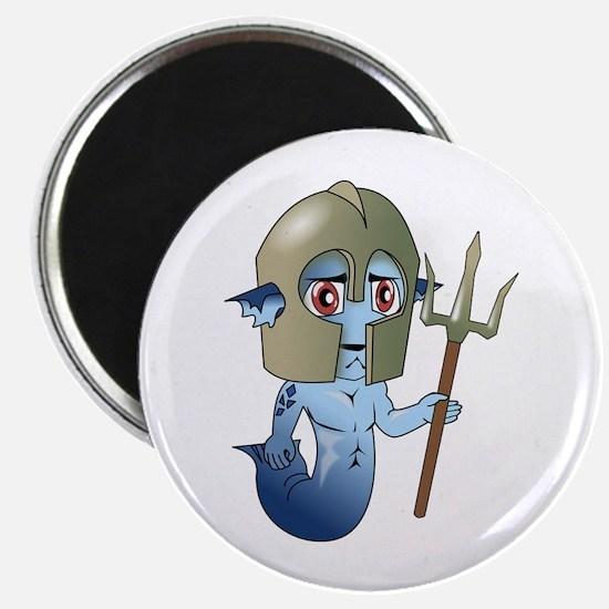 Merman Neptune's Warrior Magnets