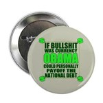 """If Bullshit was Currency 2.25"""" Button (100 pa"""