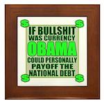If Bullshit was Currency Framed Tile