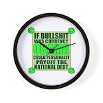 If Bullshit was Currency Wall Clock