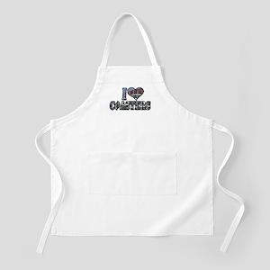 I heart coasters BBQ Apron