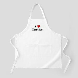 I Love Turtles! BBQ Apron