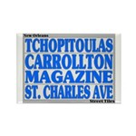 New Orleans Streets Rectangle Magnet