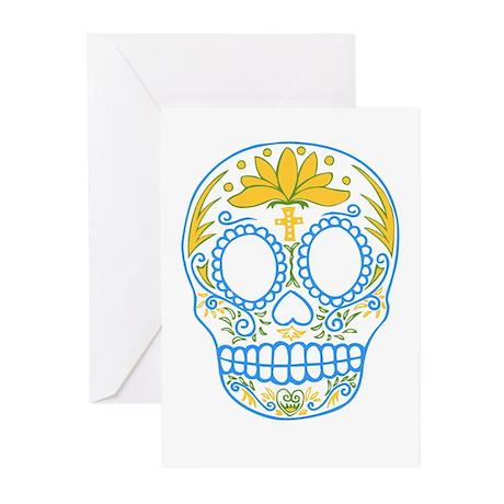 Sugar Skull Blank Cards (Pk of 10)