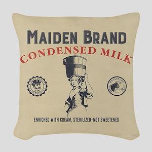 WW Maiden Brand Milk Woven Throw Pillow