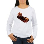 Women's Zombie Shirt Long Sleeve Gory Zombie Top