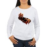 Women's Zombie Shirt Long Sleeve Gory Zombie Top
