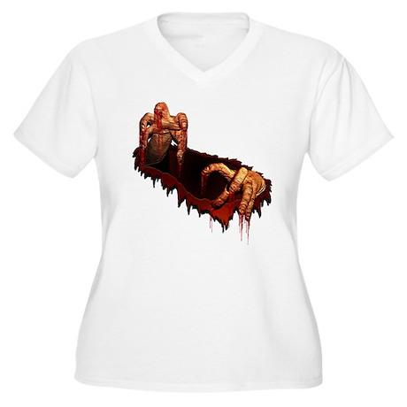 Zombie Women's Plus Size V-Neck T-Shirt