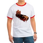 Zombie Ringer T-shirt Cool Gory Zombie T-shirt