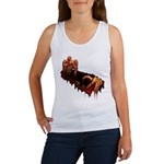 Women's Zombie Tank Top Gory Halloween Ladies Top