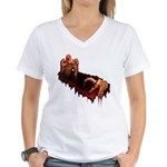 Zombie Women's V-Neck T-Shirt