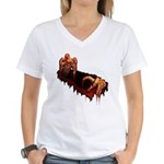 Zombie Women's V-Neck T-Shirt