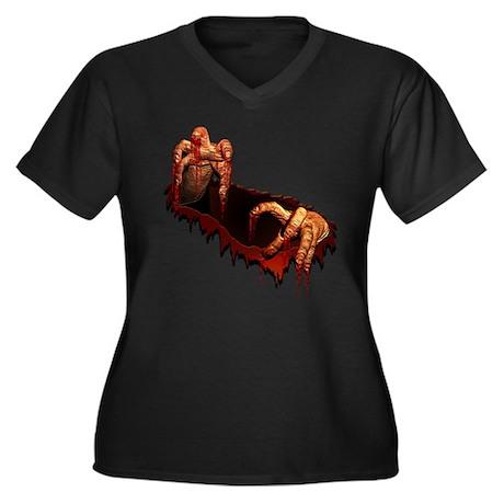Zombie Women's Plus Size V-Neck Dark T-Shirt