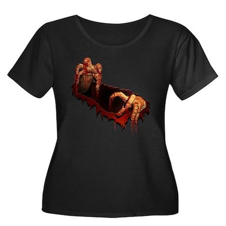 Zombie Women's Plus Size Scoop Neck Dark T-Shirt
