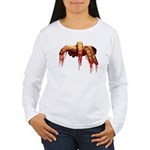 Womens Long Sleeve Zombie Shirt Gory Halloween Top