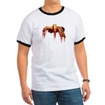 Zombie Ringer T-shirt Cool Gross Zombie T-shirt