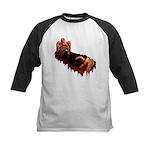 Zombie Kids Baseball Jersey Halloween Horror Shirt