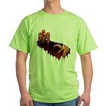 Zombie Green T-Shirt Halloween Horror T-shirt