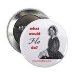 """What Would Flo Do? 2.25"""" Button"""