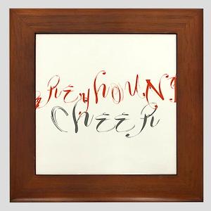 GREYHOUND CHEER (3) Framed Tile