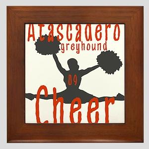 ATASCADERO CHEER (4) Framed Tile