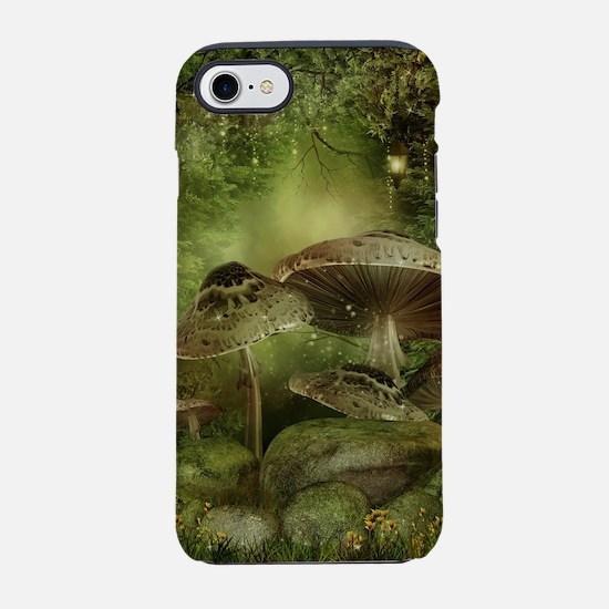 Enchanted Mushrooms iPhone 7 Tough Case