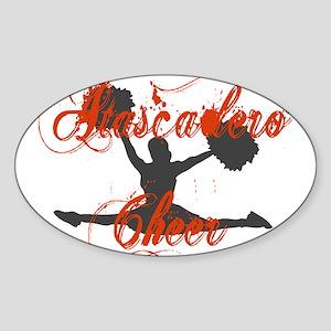 ATASCADERO CHEER (2) Oval Sticker