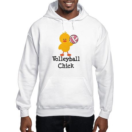 Volleyball Chick Hooded Sweatshirt