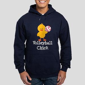 Volleyball Chick Hoodie (dark)