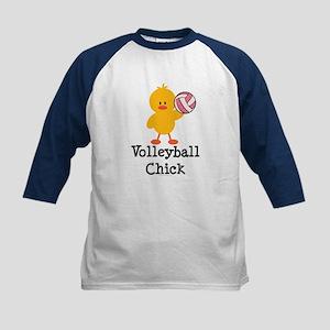 Volleyball Chick Kids Baseball Jersey