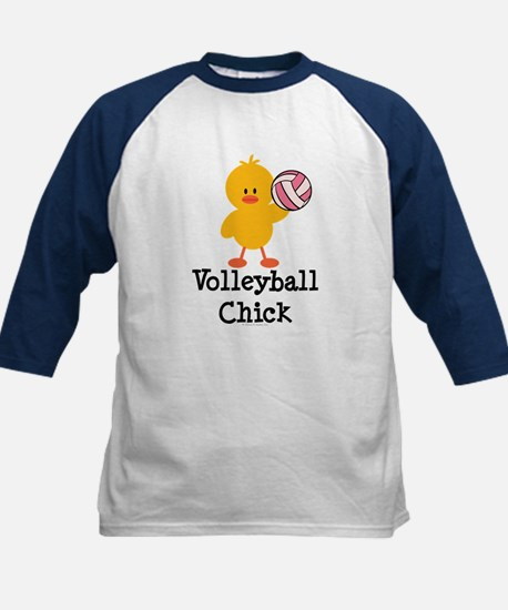 Volleyball Chick Kids Baseball Jersey