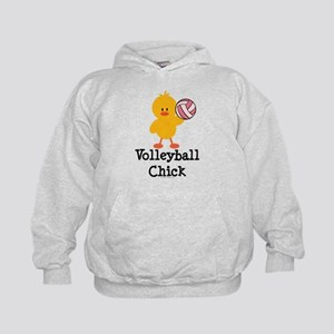 Volleyball Chick Kids Hoodie