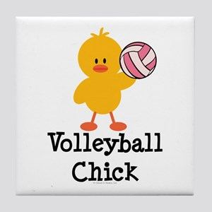 Volleyball Chick Tile Coaster