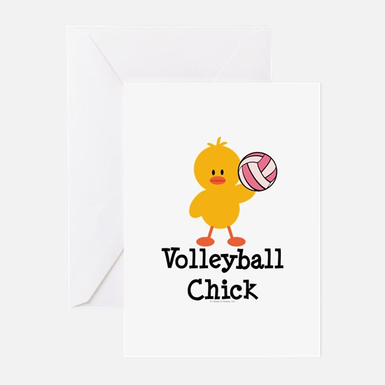 Volleyball Chick Greeting Cards (Pk of 10)