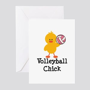 Volleyball Chick Greeting Cards (Pk of 20)