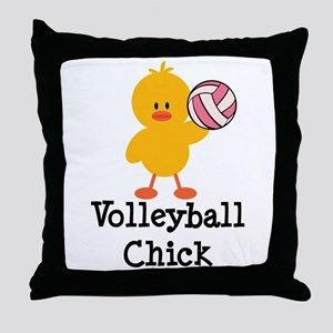 Volleyball Chick Throw Pillow
