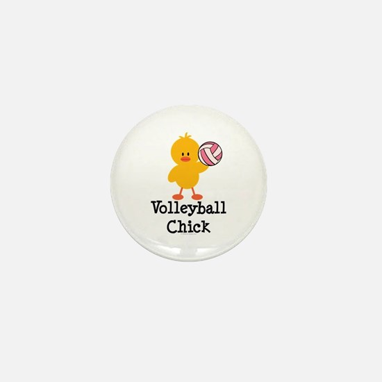 Volleyball Chick Mini Button