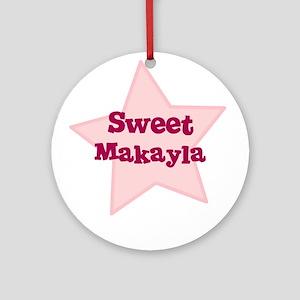 Sweet Makayla Ornament (Round)