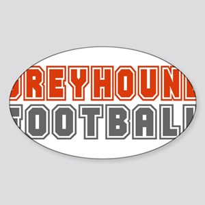 GREYHOUND FOOTBALL (3) Oval Sticker