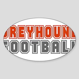 GREYHOUND FOOTBALL (3) Oval Sticker