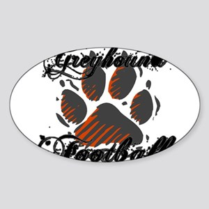 GREYHOUND FOOTBALL (7) Oval Sticker