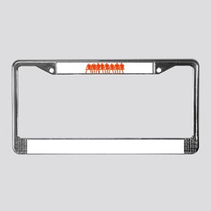 PLAYERS ON BENCH (orange) License Plate Frame