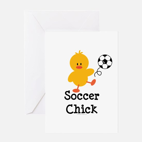 Soccer Chick Greeting Card