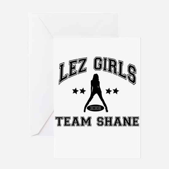 Riyah-Li Designs Lez Girls Team Shane Greeting Car